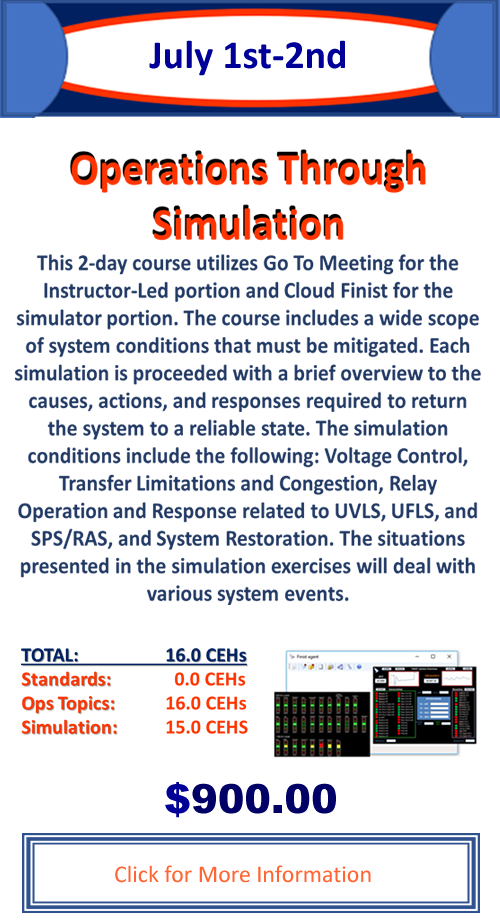 Operations Through Simulation - July 1-2, 2020 - Training done where you are!